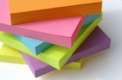 Story planning post it notes