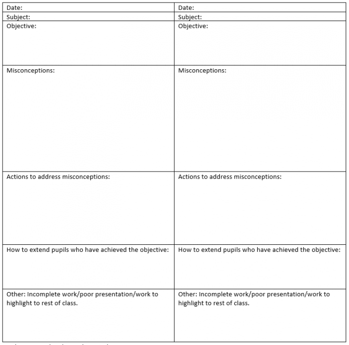 Marking Sheet Guide One Page Marking