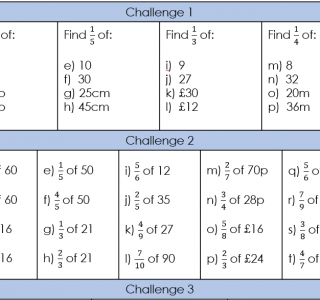 Fractions of Amounts UKS2