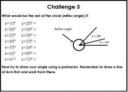 Missing Angles Worksheet - Acute, Obtuse and Reflex - Lesson