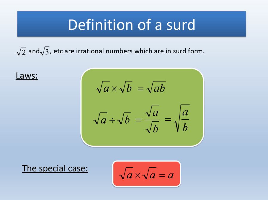 Simplifying Surds Powerpoint Lessons Lesson Planned Lesson Planned